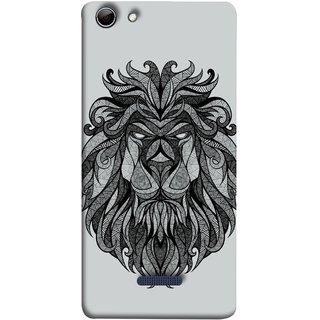 FUSON Designer Back Case Cover for Micromax Canvas Selfie 3 Q348 (Jungle Ka King Pencil Pen Sketch Best Wallpaper)