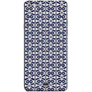 FUSON Designer Back Case Cover for Micromax Canvas Sliver 5 Q450 :: Silver Q450 (Watercolor Hand Painted Blue Indigo Boho Pattern)