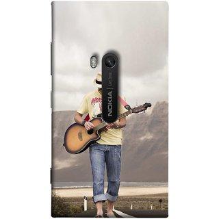 FUSON Designer Back Case Cover for Nokia Lumia 920 :: Micosoft Lumia 920 (Man Walking Road Mountains Sea Shore )