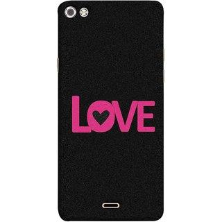 FUSON Designer Back Case Cover for Micromax Canvas Sliver 5 Q450 :: Silver Q450 (Love Life Forever Hearts Real Love True Lovers Valentine)