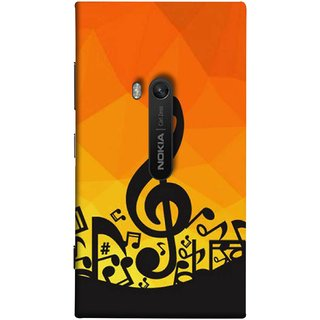 FUSON Designer Back Case Cover for Nokia Lumia 920 :: Micosoft Lumia 920 (Disco Inferno Abstract Background With Musical Notes)