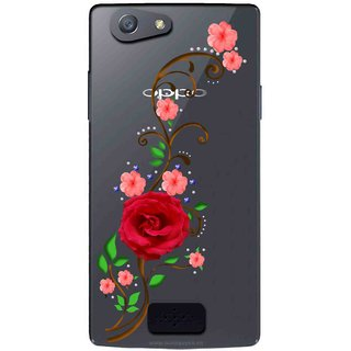 huge selection of 0d824 b048e Snooky Printed Rose Mobile Back Cover of Oppo Neo 5 - Multicolour