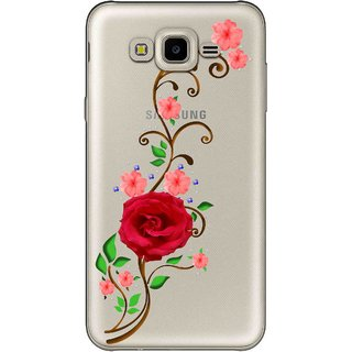 Snooky Printed Rose Mobile Back Cover of Samsung Galaxy J7 - Multicolour