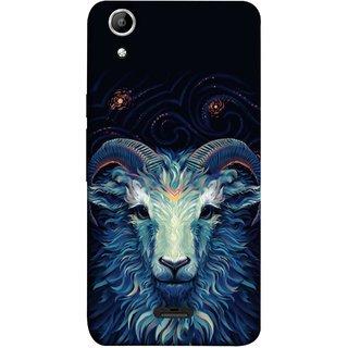 FUSON Designer Back Case Cover for Micromax Canvas Selfie Lens Q345 (Bail Goat Horn Strong Bakara Style Design)