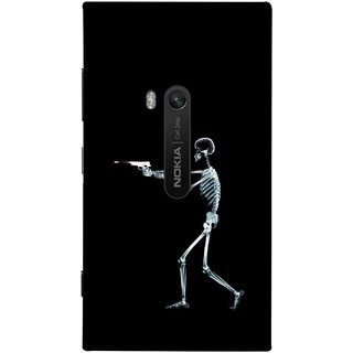 FUSON Designer Back Case Cover for Nokia Lumia 920 :: Micosoft Lumia 920 (Incredible Human Xray Pictures Revolver Icon In Black)