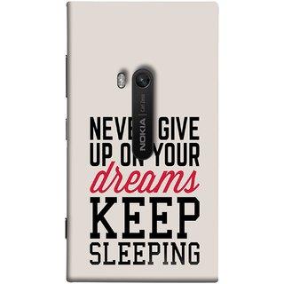 FUSON Designer Back Case Cover for Nokia Lumia 920 :: Micosoft Lumia 920 (Sleep Comedy Kabhi Bhi Sapne Dekhne Nahi )