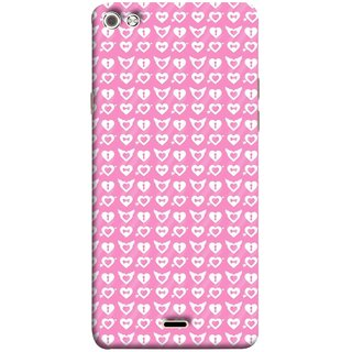 FUSON Designer Back Case Cover for Micromax Canvas Sliver 5 Q450 :: Silver Q450 (Valentine Pink Metallic Cool Peace Sign Symbol Pillow)