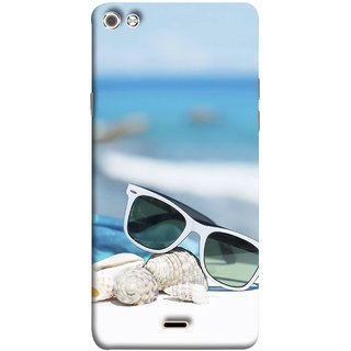 FUSON Designer Back Case Cover for Micromax Canvas Sliver 5 Q450 :: Silver Q450 (Summer Vacation Beach Mobile Wallpaper Blue Sky )