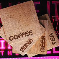 Match My Beverage Engraved Wooden Coasters (Set Of 4)