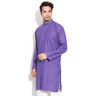 TwoPeople India Purple Cotton Kurta Set