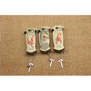 Multi-purpose lighters Eagle head/scorpion/butterfly with a knife and a beer bottle opener gas lighters
