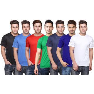 K-TEX MenS Multicolor TShirt Pack of 7