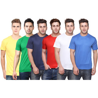K-TEX MenS Multicolor TShirt Pack of 6
