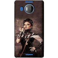 FUSON Designer Back Case Cover for Microsoft Lumia 950 XL :: Microsoft Lumia 950 XL Dual SIM (Mad Men Beauty Moments Betty Draper Smoking )