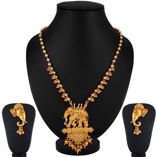 Sukkhi Bahubali Matte Finished Gold Plated Necklace set for women