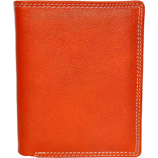 Chandair Pure Leather Salamander Orange Mens Wallet (WL-NW-006)