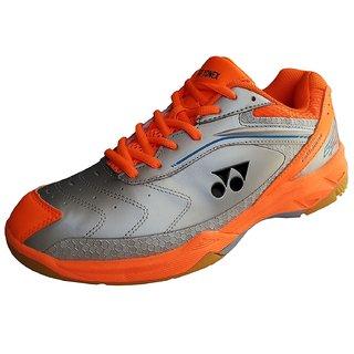 Yonex SRCR65R Badminton Shoes (Silver/Orange)