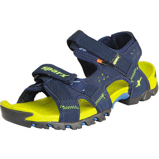 Sparx Men's Navy Green Athletic and Outdoor Sandals