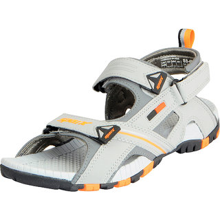 Sparx Men's Grey Orange Athletic and Outdoor Sandals