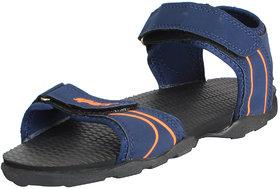 Sparx Men's Navy Orange Athletic and Outdoor Sandals