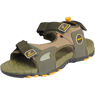 fcdf7f4ab Buy Sparx Men s Olive Yellow Athletic and Outdoor Sandals Online ...
