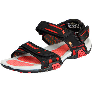 41914b57228fd9 Buy Sparx Men s Black Red Athletic and Outdoor Sandals Online ...