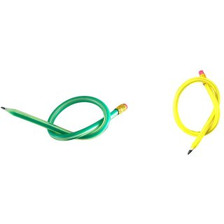Leilei Green & Yellow Flexible Pencil Set Of 10