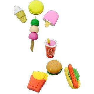 Priyankish Multicolour Snacks & Ice Cream Erasers