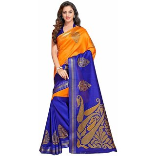 f82146a5704ec6 Buy Indian Beauty Art Silk Cotton With Blouse Saree Online - Get 64% Off