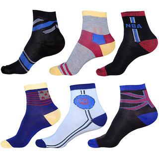 Forrester World Multicolor Epitome Ankle Socks (Pack of 6)