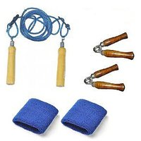 Welkin Fitness Set Hand Grippers + Skipping Rope + Wrist Bands