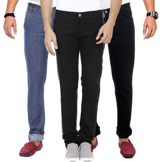 Buy Van Galis Fashion Wear Combo Of Blue And Black Denim Jeans For
