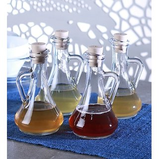 Transparent Olivia Oil Vinegar - Set of 4 by Pasabahce