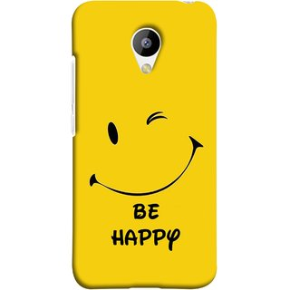 FUSON Designer Back Case Cover for Meizu M3 (Yellow Background Cute Smiling Smiley Big Smile)