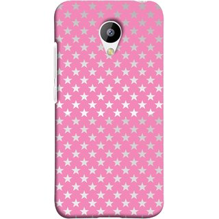 FUSON Designer Back Case Cover for Meizu M3 (Small Lot Of Stars Baby Pink Back Shining Glossy Baby)