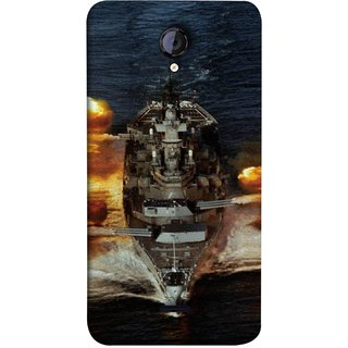 FUSON Designer Back Case Cover for Micromax Unite 2 A106 :: Micromax A106 Unite 2 (Indian Submarine Shoots Ship With Missile Training )