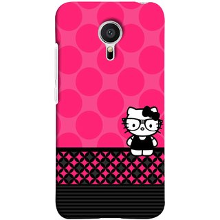 FUSON Designer Back Case Cover for Meizu M2 Note :: Meizu Note 2 (Small Cute Pink Red Paper Bubbles Circles Valentine)