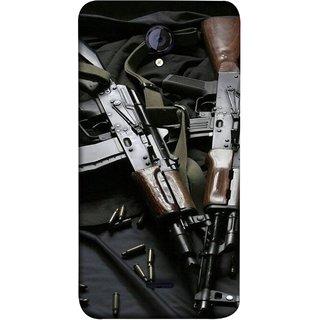 FUSON Designer Back Case Cover for Micromax Unite 2 A106 :: Micromax A106 Unite 2 (Ammunition Bullets Guns Machine Murders War )