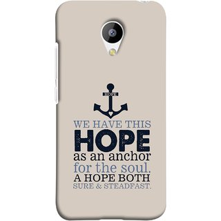 FUSON Designer Back Case Cover for Meizu M3 (A Hope Both Sure And Steadfast Deep Sea Anchor Ship)