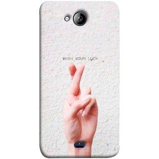 FUSON Designer Back Case Cover for Micromax Unite 3 Q372 :: Micromax Q372 Unite 3 (Always Wish You Best Success Happy Palm )
