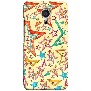 FUSON Designer Back Case Cover for Meizu M2 Note :: Meizu Note 2 (Vector Abstract Background Of Colorful 3D Stars)