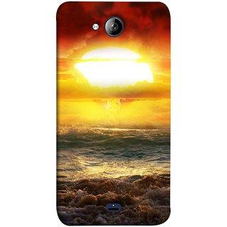FUSON Designer Back Case Cover for Micromax Unite 3 Q372 :: Micromax Q372 Unite 3 (Sunshine Bright Day Sunny Clouds Fuzzy Waves Long )
