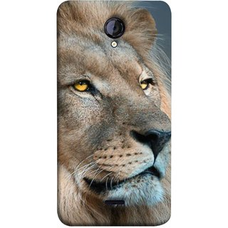 FUSON Designer Back Case Cover for Micromax Unite 2 A106 :: Micromax A106 Unite 2 (Jungle King Stearing Aslan Painting Oil Art )
