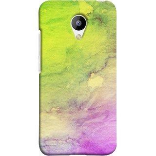 FUSON Designer Back Case Cover for Meizu M3 (Artwork Acid Bright Wallpaper Purple Green Mix)
