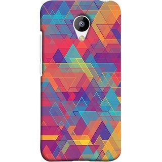 FUSON Designer Back Case Cover for Meizu M3 (Geometric Watercolour Art Print Pink Bright)