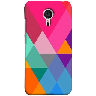 FUSON Designer Back Case Cover for Meizu M2 Note :: Meizu Note 2 (Abstract Painting Colored Triangles Acrylic Painting)