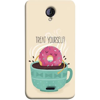 FUSON Designer Back Case Cover for Micromax Unite 2 A106 :: Micromax A106 Unite 2 (Donut Strawberry Flavor Sinking In Hot Chocolate)