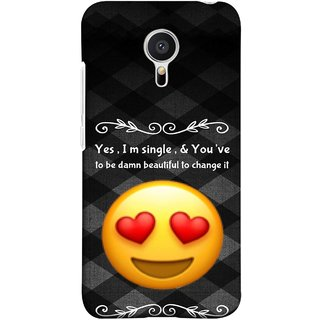 FUSON Designer Back Case Cover for Meizu M2 Note :: Meizu Note 2 (Damn Beautiful To Change It Hearts Love Pure Smiley)