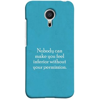 FUSON Designer Back Case Cover for Meizu M2 Note :: Meizu Note 2 (Permission Motivational Inspirational Saying Quotes)
