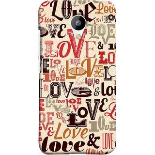 FUSON Designer Back Case Cover for Meizu M3 (Red Black Only Love Grey Symbols Victory Brown )